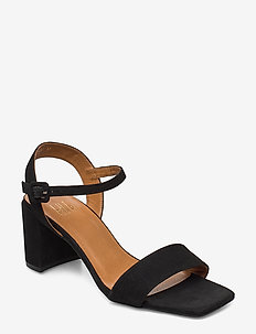 Sandals 4657 - heeled sandals - black suede 50