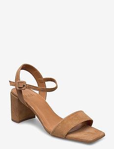 Sandals 4657 - højhælede sandaler - cuoio suede 55