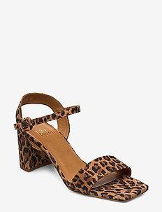 Sandals 4657 - högklackade sandaler - leopardo suede 542