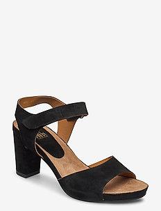 Sandals 4660 - korolliset sandaalit - black babysilk suede 500