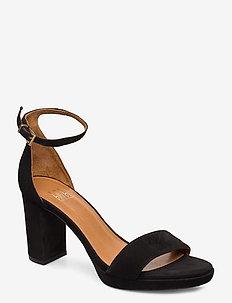 Sandals 4671 - sandalen met hak - black suede 50