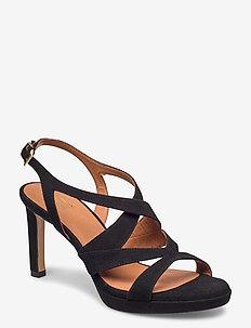 Sandals 4675 - høyhælte sandaler - black suede 50