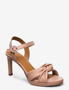 Sandals 4676 - høyhælte sandaler - rose 3624 nappa 78