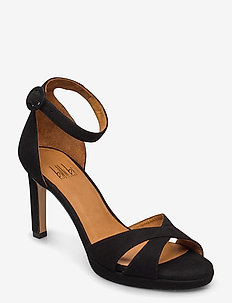 Sandals 4677 - heeled sandals - black suede 50
