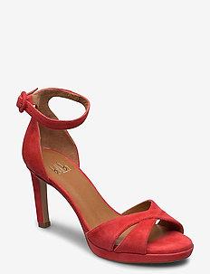 Sandals 4677 - højhælede sandaler - coral suede 557