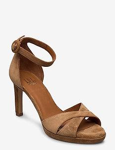 Sandals 4677 - højhælede sandaler - cuoio babysilk 55