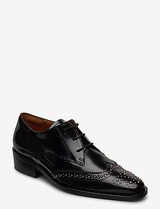 Shoes 4702 - buty sznurowane - black polido /silver 900