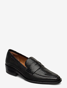Shoes 4703 - loafers - black lizard 300 p
