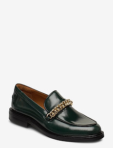 Shoes 4710 - loafers - bottle green calf 86