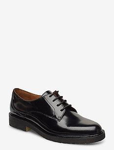 Shoes 4717 - buty sznurowane - black polido  900