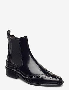 Boots 4733 - chelsea støvler - black polido  900