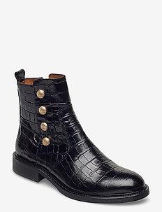Boots 4753 - flate ankelstøvletter - black monterey/gold 10