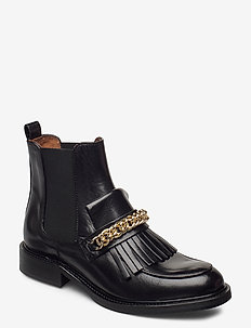 Boots 4754 - chelsea boots - black baby buffalo/gold 602
