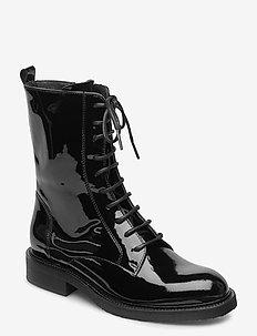 Boots 4767 - flate ankelstøvletter - black patent 200