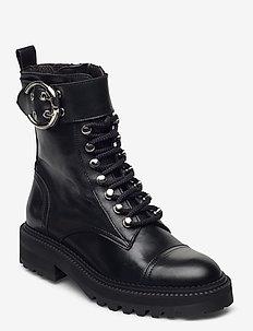 Boots 4803 - flate ankelstøvletter - black calf 80