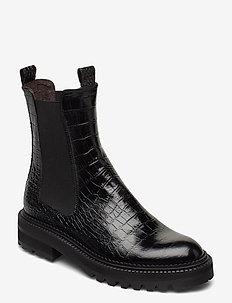 Boots 4806 - chelsea støvler - black luisiana croco 010 x