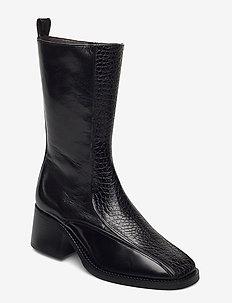 Boots 4814 - enkellaarsjes met hak - black yango comb. 190 y