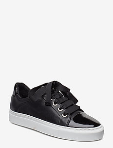 Sport 4825 - low top sneakers - black patent/calf/wh. sole 283