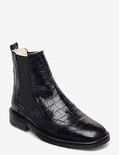 Boots 4840 - chelsea boots - black luisiana croco 10