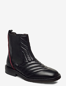 Boots 4843 - chelsea boots - black nappa/red stripe 70