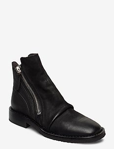 Boots 4845 - flate ankelstøvletter - black varese 90