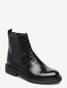 Boots 4846 - bottes chelsea - black luisiana croco 10