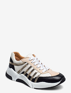 Sport 4860 - lage sneakers - black/white/gold comb.723