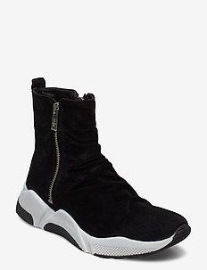 Sport 4865 - high top sneakers - black babysilk suede 500