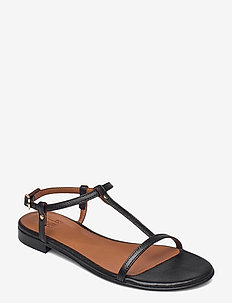 Sandals 4902 - flade sandaler - black metal nappa 700