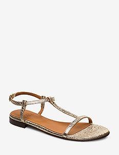Sandals 4902 - flade sandaler - gold ferrer metal 004