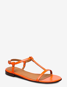 Sandals 4902 - flat sandals - rosso neon calf 998