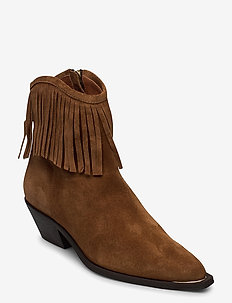 Booties 4916 - ankle boots with heel - tabac babysilk suede 555