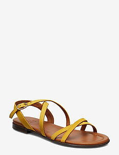 SANDALS - YELLOW 1795 SUEDE/GOLD 552