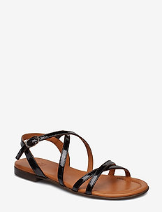SANDALS - BLACK PATENT/LT.SOLE 900