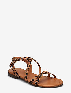 SANDALS - LEOPARDO SUEDE 542 H