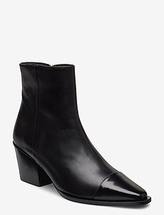 Boots 4932 - ankle boots with heel - black polido/black calf 980