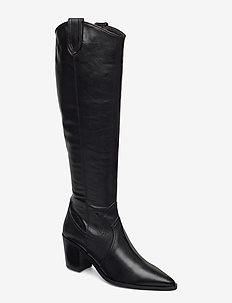 Long Boots 4944 - lange laarzen - black calf 80