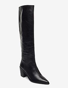 Boots 4945 - lange laarzen - black calf 80