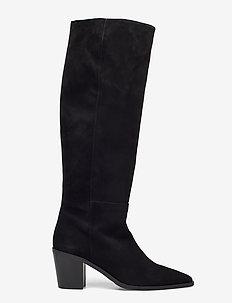 Boots 4945 - höga stövlar - black suede 50