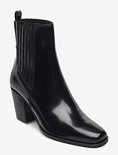 Boots 4951 - enkellaarsjes met hak - black polido  900