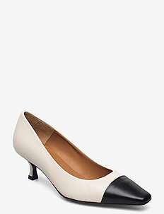 Pumps 5041 - klassieke pumps - black calf/beige nappa 873
