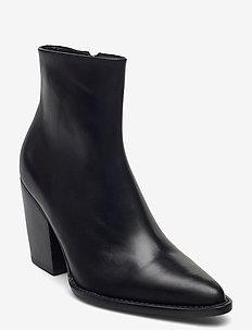 Booties 5180 - ankelstøvler med hæl - black calf 80