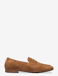 Shoes 54525 - loafers - cognac suede 55