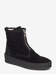 SHOES - platta ankelboots - black sue/silver/bl sole 503