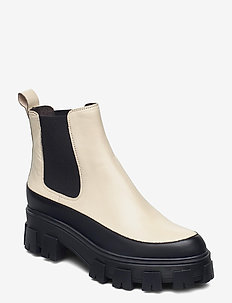 Boots 6061 - chelsea boots - bl.rubber/creme nappa 873