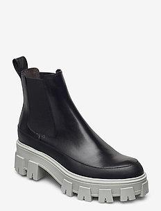 Boots 6061 - sko - black calf/varm grey sole 803