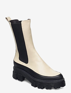 Boots 6062 - chelsea boots - bl.rubber/creme nappa 873