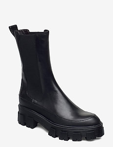 Boots 6062 - chelsea boots - bl.rubber/black calf 80