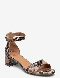 SANDALS - højhælede sandaler - beige 6071 snake p