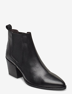 BOOTS - ankle boots with heel - black calf 80